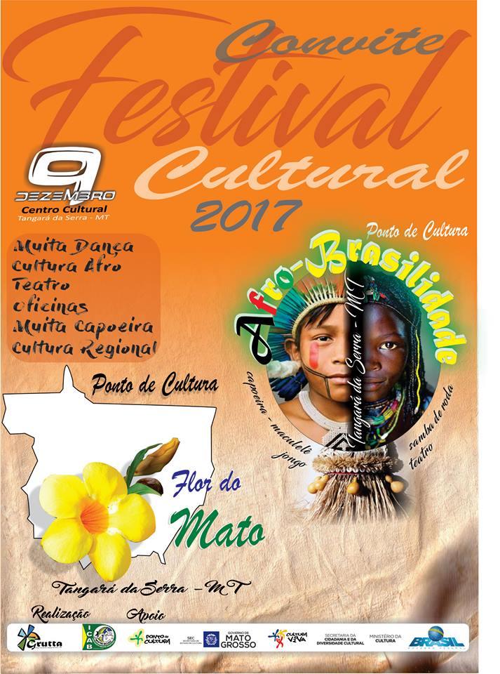 Convite Festival cultural